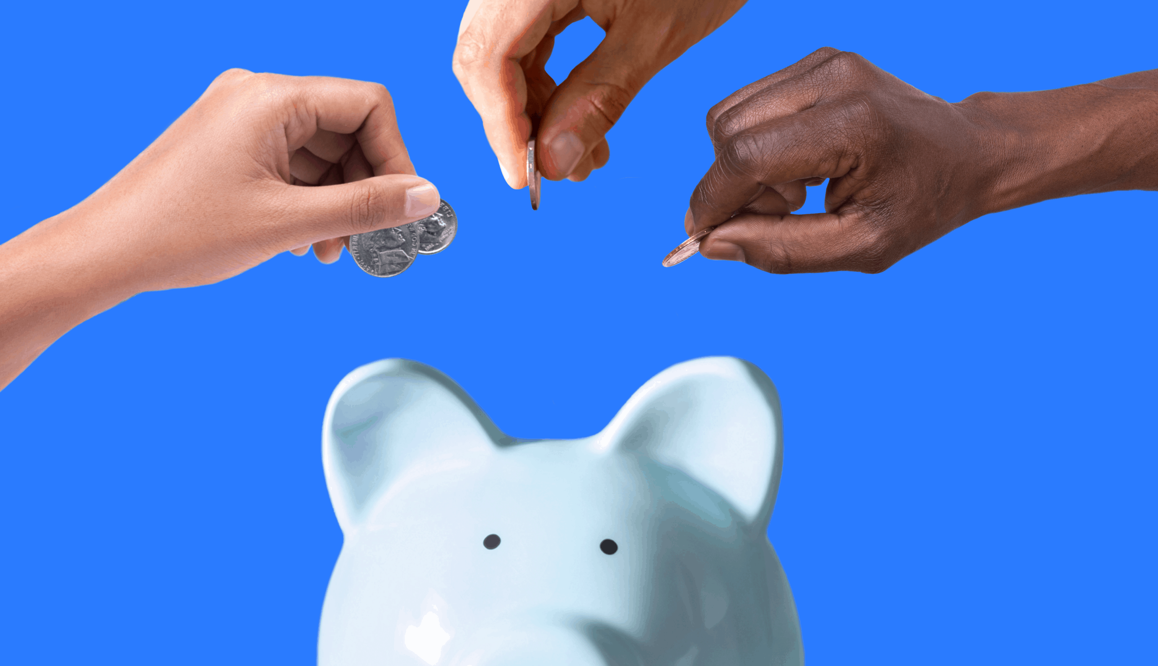 Title: Have Questions About HSA Contributions? We've Got Answers Graphic: hands putting money into a piggy bank