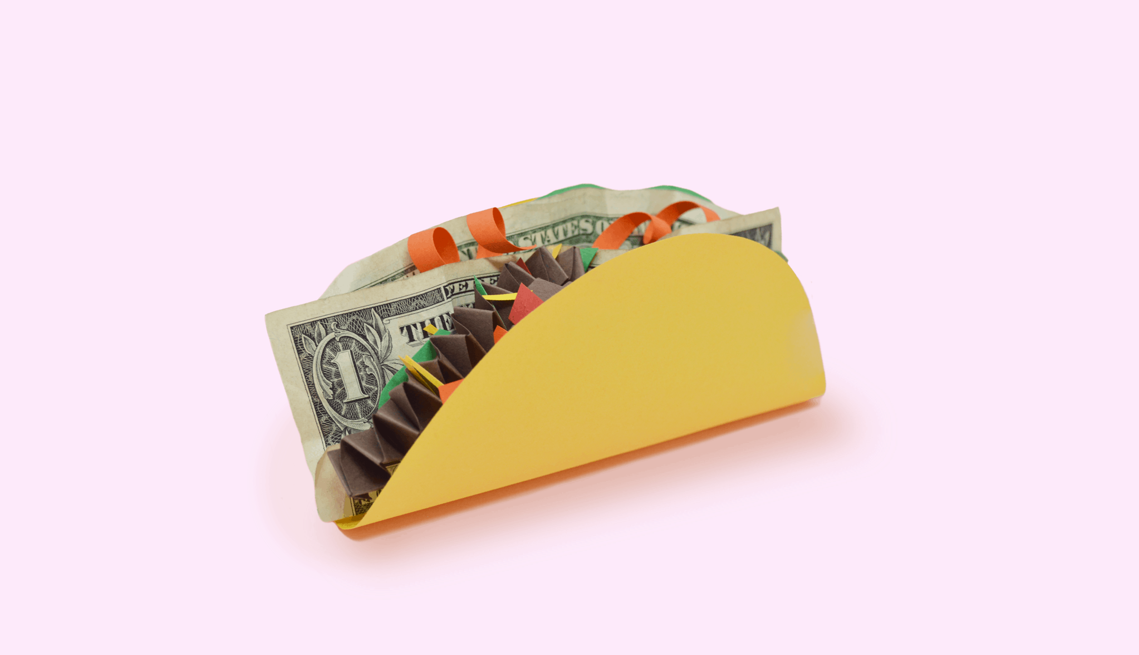 A taco filled with money.