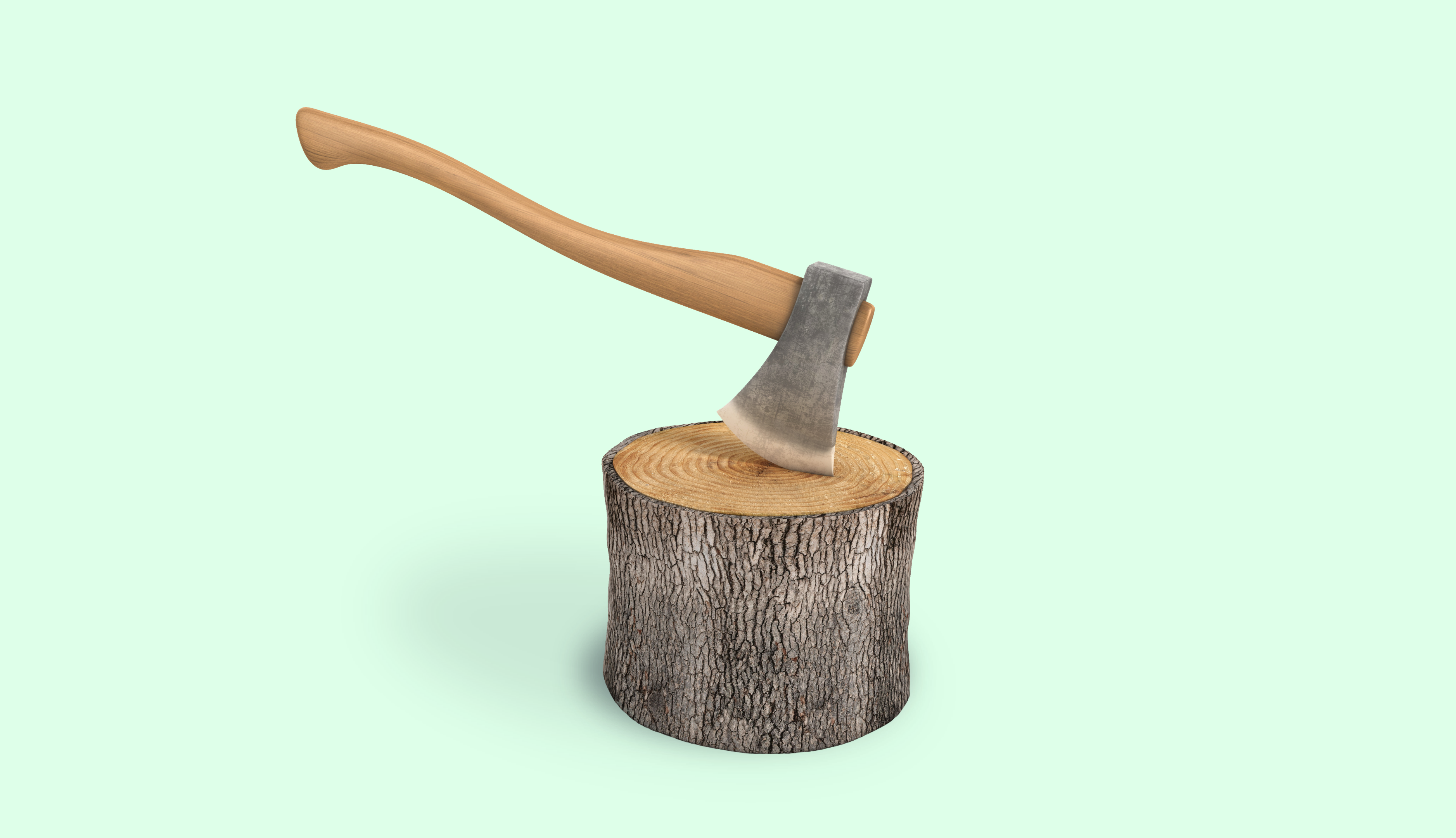 Title: The Health Savings Hack No One Knows About Grpahic: green background with axe in wood