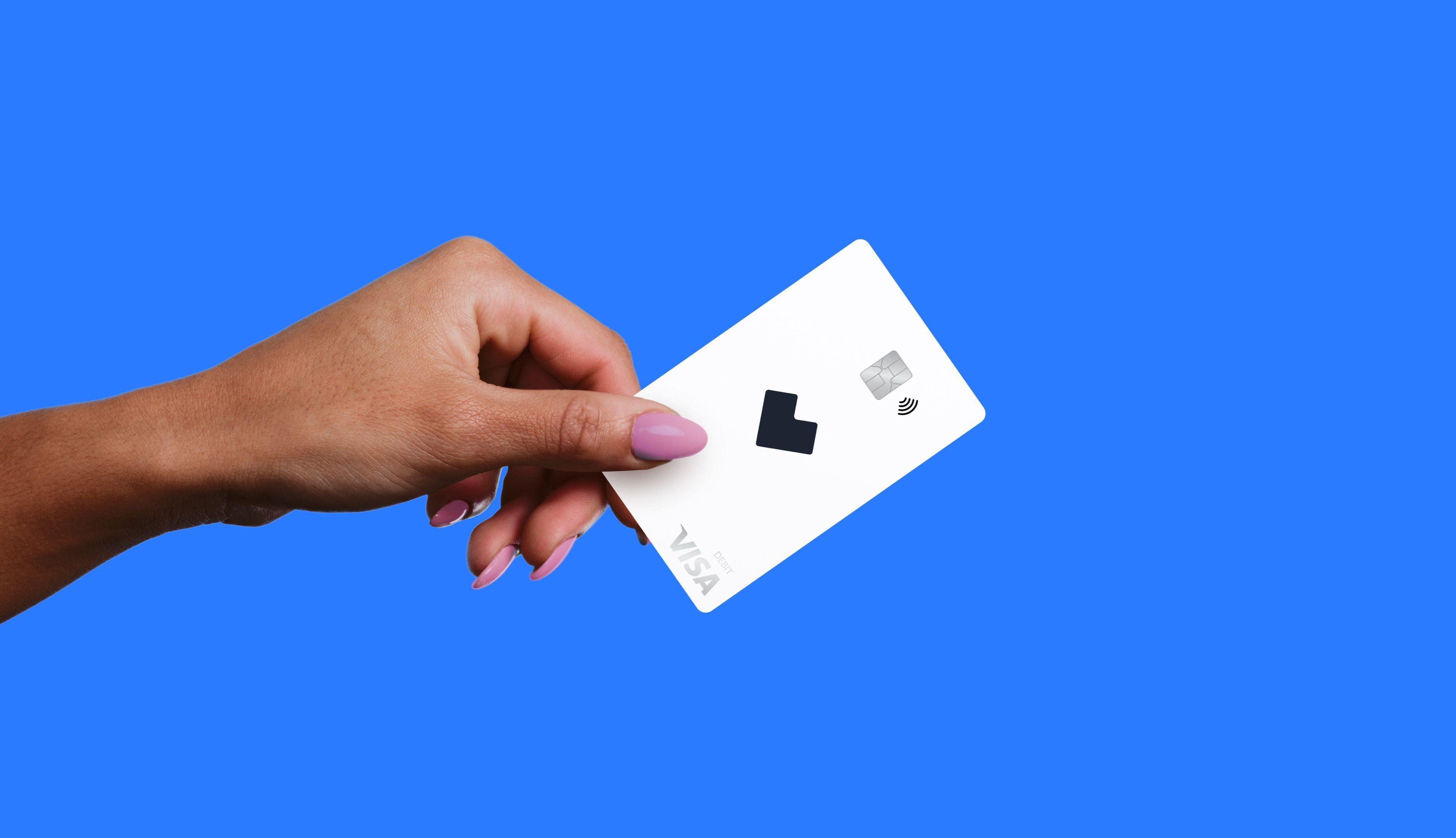 White Starship HSA card on blue background.