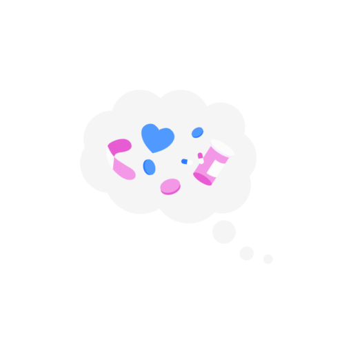 thought bubble on pink background