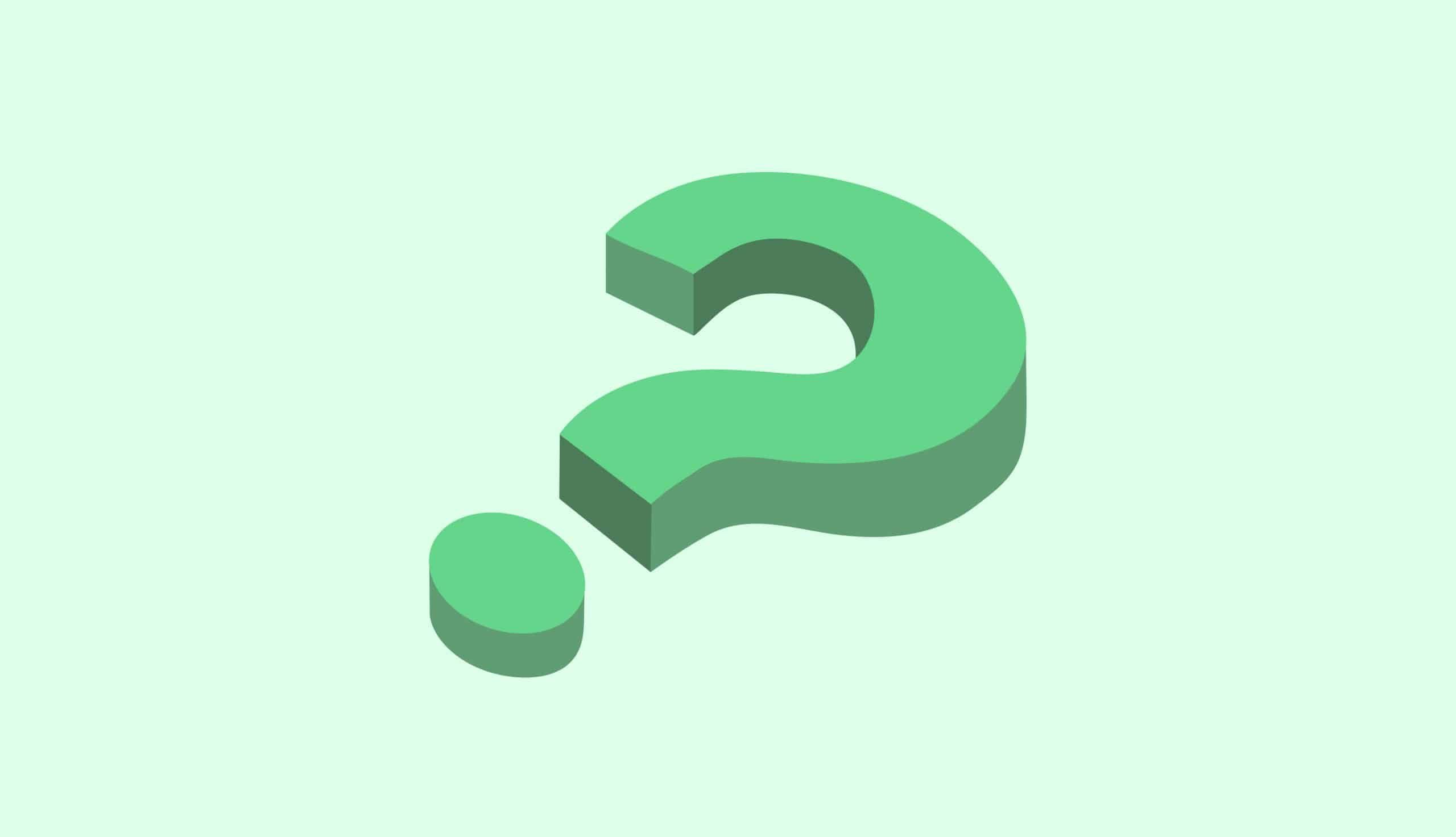 green question mark on green background