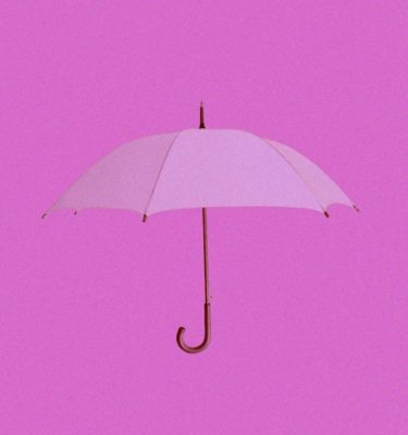 pink umbrella on a pink background
