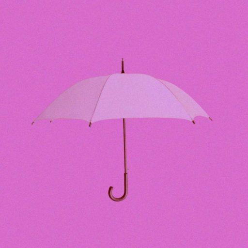 pink umbrella on a pink background